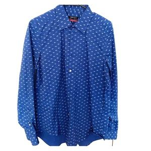 Men's slim fit long sleeve casual button up shirts